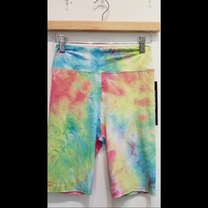 Tie Dye High Waisted Biker Shorts